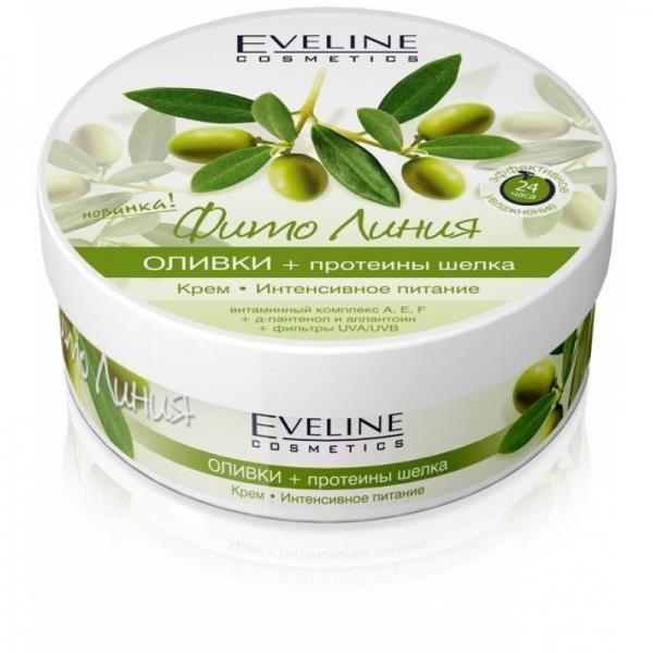 Eveline Фито Линия Крем интенсивное питание оливки+протеины шелка 210 мл.