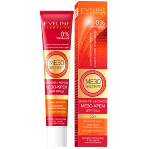 Eveline Мезо Эксперт 55+ Дневной и ночной мезо-крем для кожи лица 50 мл.