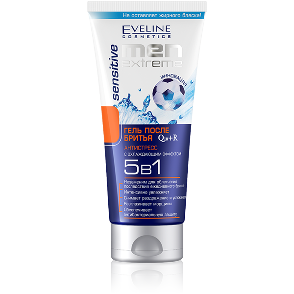 Eveline Men Extreme Sensitive Q10+r Гель 5в1 после бритья 200 мл.