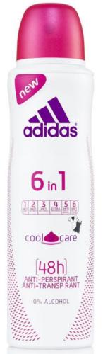 Adidas woman (deo) Cool & Care 6в1 Дезодорант 150 мл.