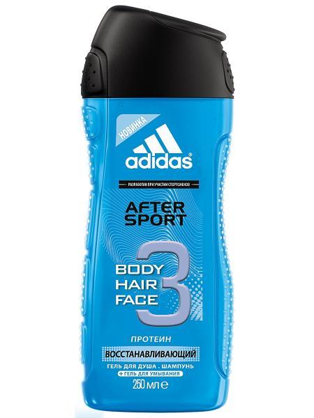 Adidas men After Sport Шампунь - гель для душа 250 мл.