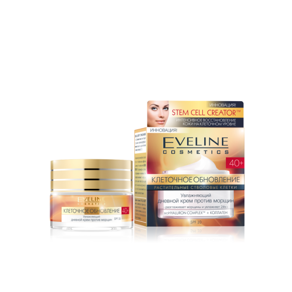 Eveline Клеточное Обновление 40+ Увлажняющий крем против морщин дневной 50 мл.