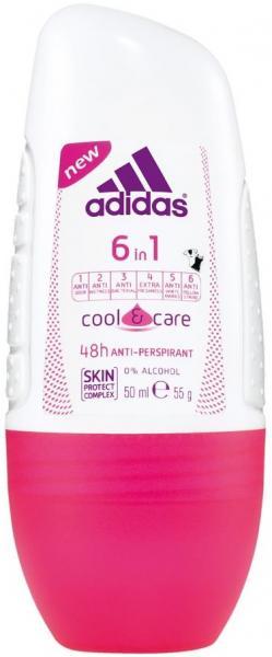 Adidas woman (deo-rol) Cool & Care 6в1 Дезодорант-роликовый 50 мл.