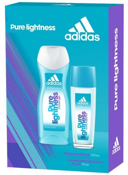 Adidas woman Pure Lightness Набор: Парфюмированная вода 75 мл. + Гель для душа 250 мл.