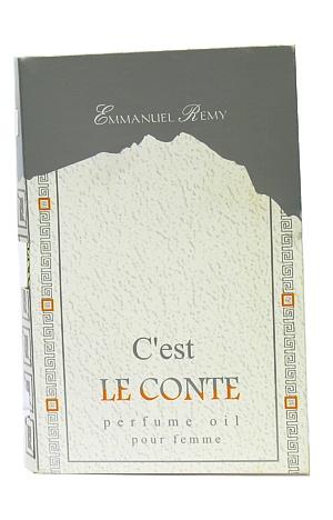 "Парфюмерные масла ""Light Aroma"" парфюм.масло пробник на открытке Le Conte 1.5 мл. (lancome Poeme)"