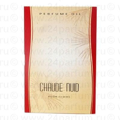 "Парфюмерные масла ""Light Aroma"" парфюм.масло пробник на открытке Chaude Nuid - Белый 1.5 мл. (elizabeth Arden 5th Avenue)"