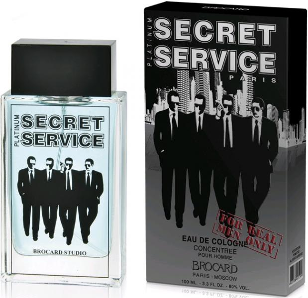 Brocard Secret Service men Platinum Одеколон 100 мл.